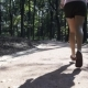 Jogger Woman Running in a Park - VideoHive Item for Sale