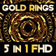 Gold Ring Visual Loops Pack - VideoHive Item for Sale