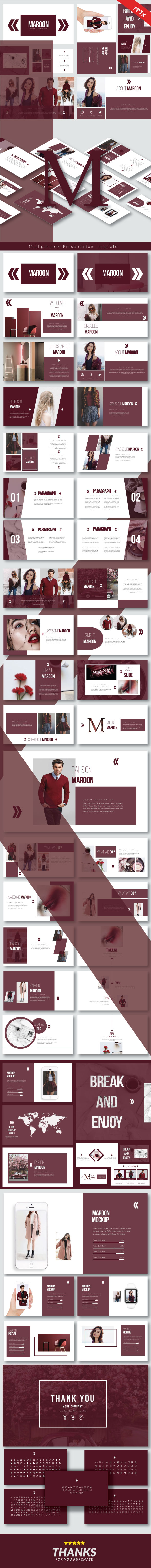 Maroon - Multipurpose Presentation Templates - Business PowerPoint Templates