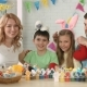 Portrait of Happy Friendly Family with Two Children During Easter Celebration - VideoHive Item for Sale