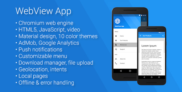 Universal Android WebView App - CodeCanyon Item for Sale