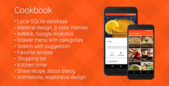 Cookbook recipe app for android by robotemplates codecanyon cookbook recipe app for android codecanyon item for sale forumfinder Image collections