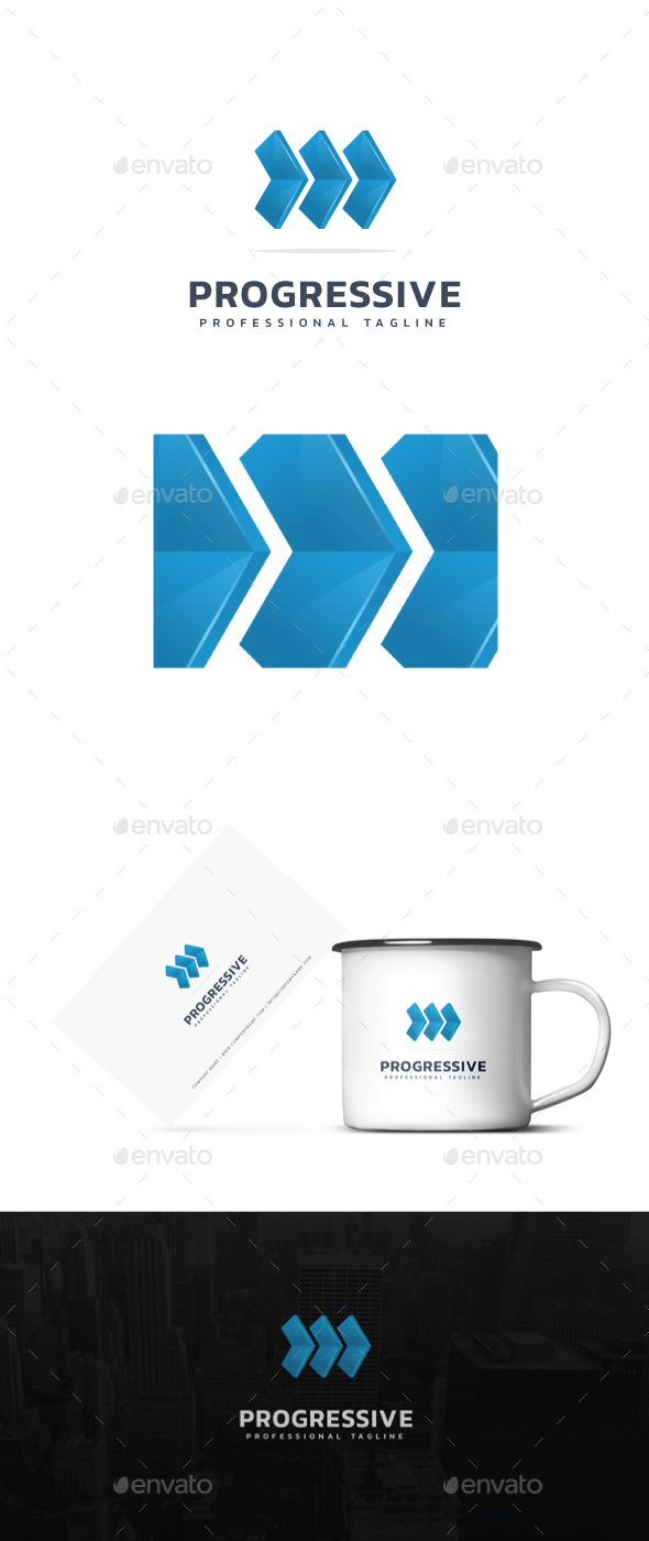 Progressive Logo - Abstract Logo Templates