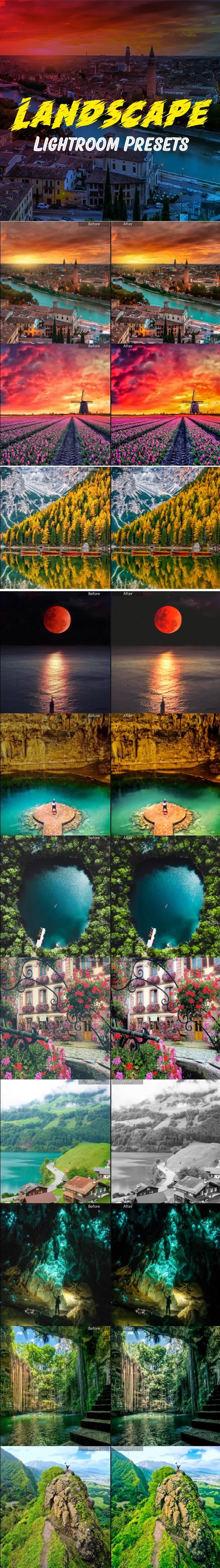 12 Landscape Lightroom Presets - Landscape Lightroom Presets