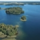 Flight Over the Lake with Islands. Surroundings of Trakai Castle, Lithuania - VideoHive Item for Sale