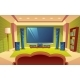 Vector Cartoon Home Theater