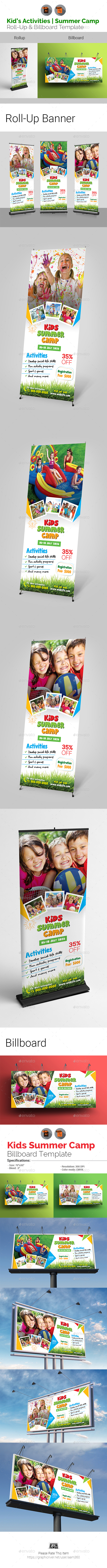 Kids Summer Camp Signage Bundle - Signage Print Templates