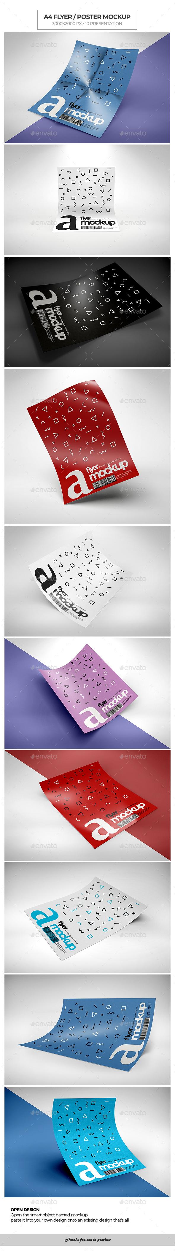 A4 / Poster / Flyer Mockup - Flyers Print