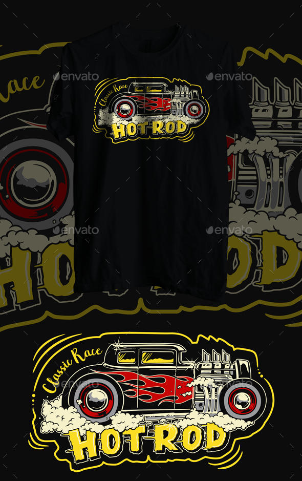 hot rod classic race - T-Shirts