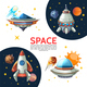 Cartoon Colorful Space Poster - GraphicRiver Item for Sale