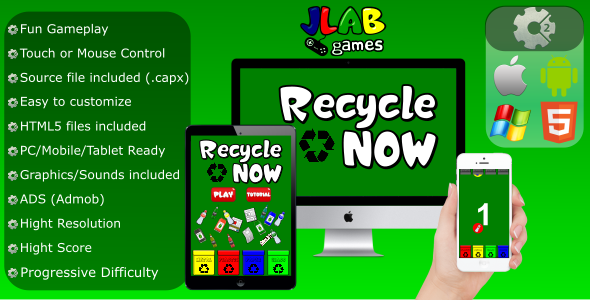 Recycle Now - CAPX (Mobile and HTML5) - CodeCanyon Item for Sale