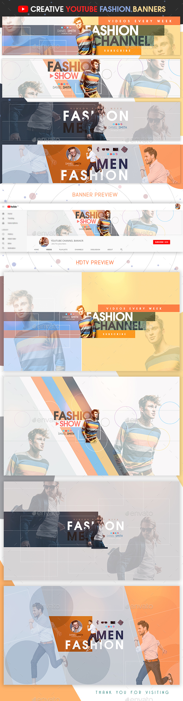 Creative YouTube Fashion Banners - YouTube Social Media
