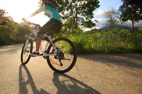 Cycling outdoors - Stock Photo - Images