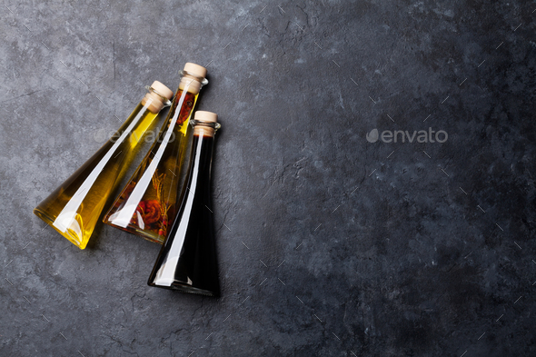 Olive oil and vinegar - Stock Photo - Images