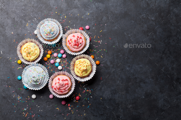 Sweet cupcakes - Stock Photo - Images