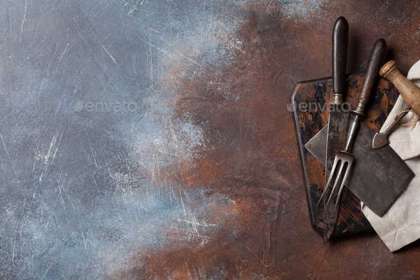 Vintage kitchen utensils - Stock Photo - Images