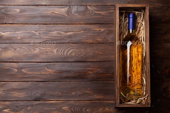 White wine bottle - Stock Photo - Images