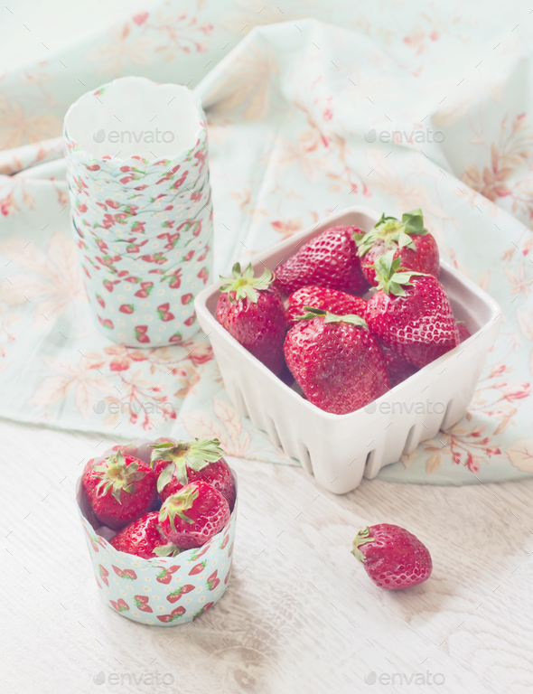 Fresh ripe strawberries - Stock Photo - Images