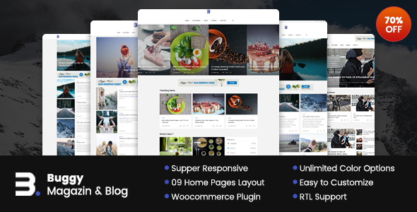Buggy - Magazine & Blog WordPress Themes