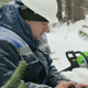 Worker With Tablet Computer Working in Winter Forest - VideoHive Item for Sale
