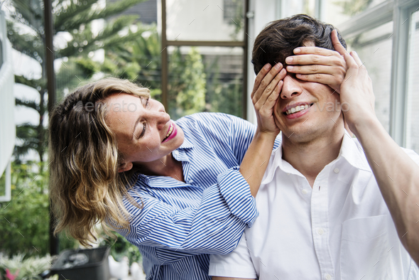 Couple enjoying a weekend together - Stock Photo - Images