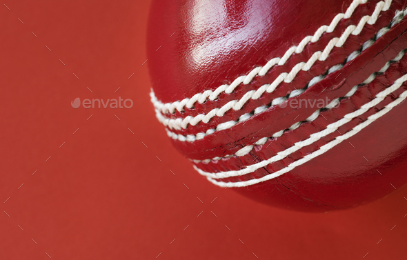 Cricket ball isolated - Stock Photo - Images
