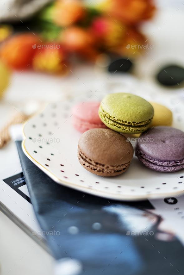 Closeup of macaron - Stock Photo - Images