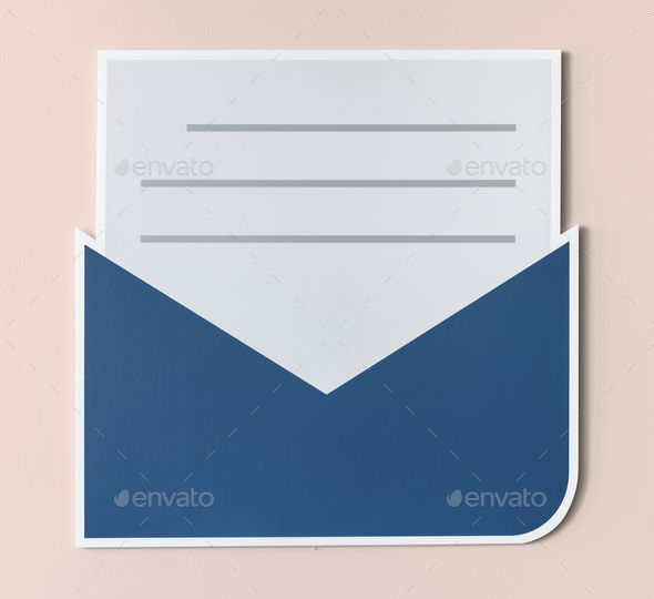 Open letter email alert icon - Stock Photo - Images