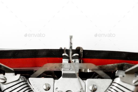 Closeup of retro typewriter - Stock Photo - Images