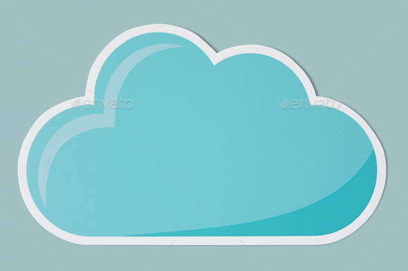 Blue cloud technology symbol icon - Stock Photo - Images