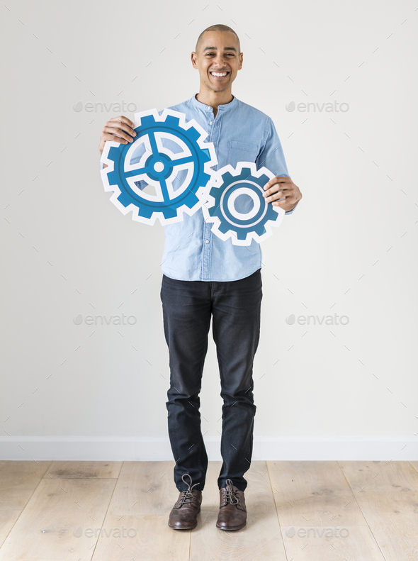White man with teamwork concept - Stock Photo - Images