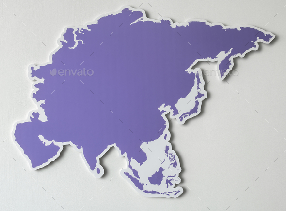 Free blank map of South East Asia - Stock Photo - Images