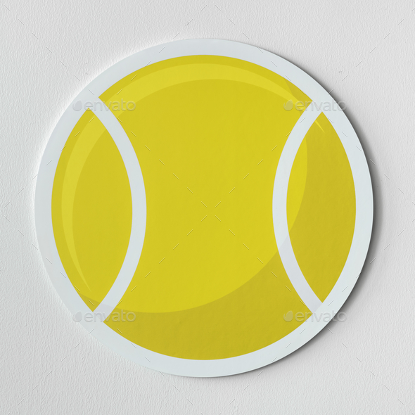 Cut out tennis ball graphic - Stock Photo - Images