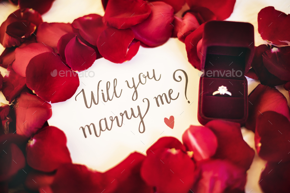 Marriagae proposal - Stock Photo - Images