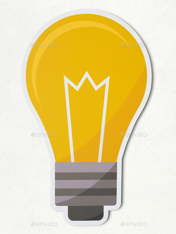 Creative light bulb icon isolated - Stock Photo - Images