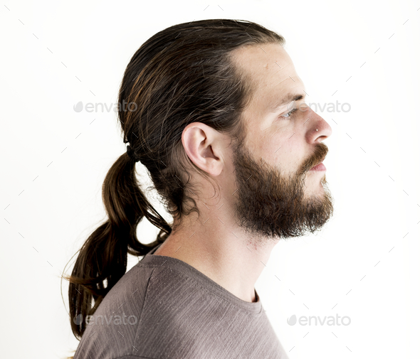 Portrait of white man isolated - Stock Photo - Images