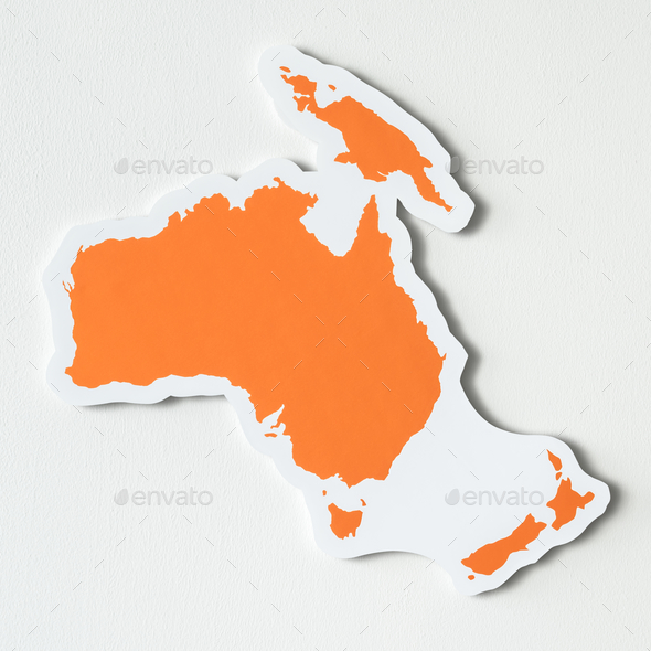Free blank map of Australia and Oceania - Stock Photo - Images