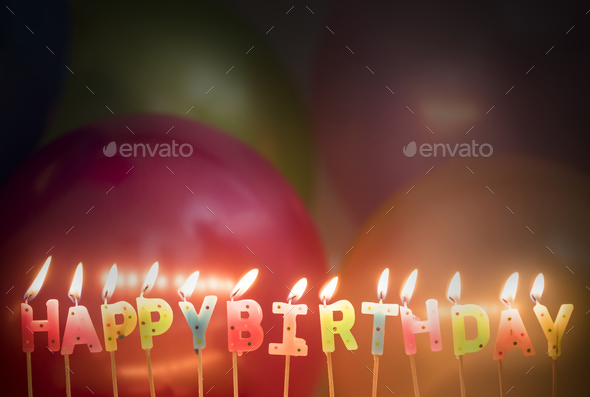 Closeup Of Lit Birthday Candles Birthday Wishes Concept Stock Photo By Rawpixel