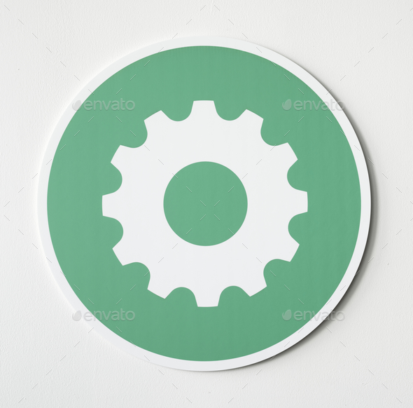 Green settings tools icon graphic - Stock Photo - Images