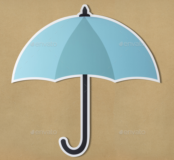 Protection umbrella securuty symbol icon - Stock Photo - Images