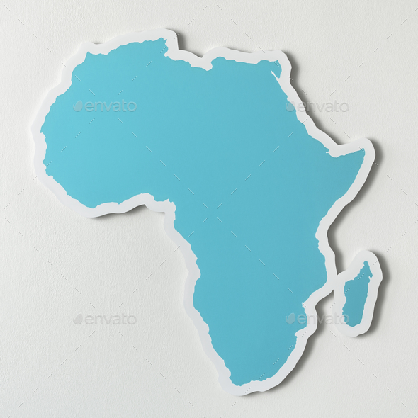 Free blank map of Africa - Stock Photo - Images