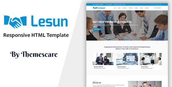 Lesun - Consulting & Business HTML Template - Corporate Site Templates