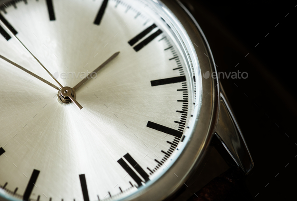 Closeup macro shot of a watch - Stock Photo - Images