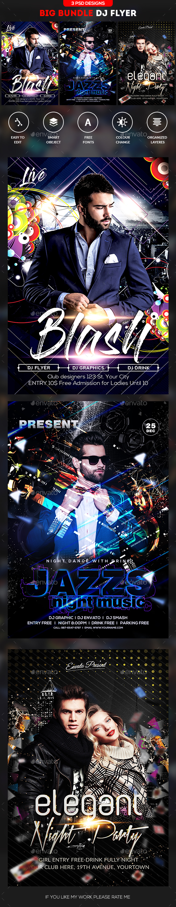 Guest DJ Flyer Bundle - Events Flyers