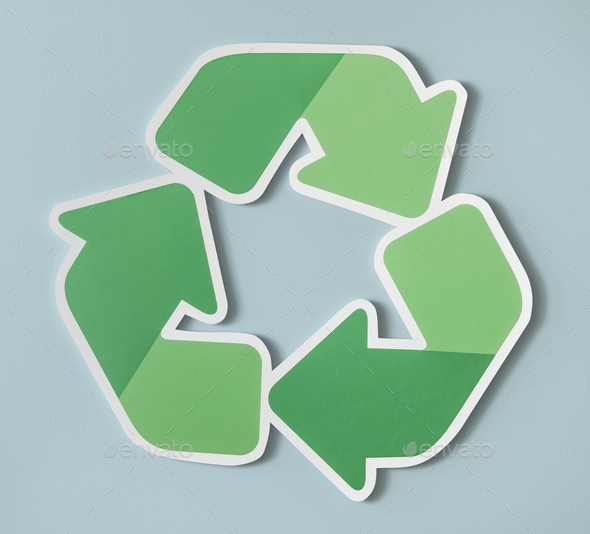 Reduce reuse recycle symbol icon - Stock Photo - Images