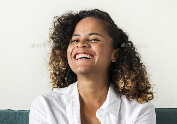 A girl with a positive smile - Stock Photo - Images