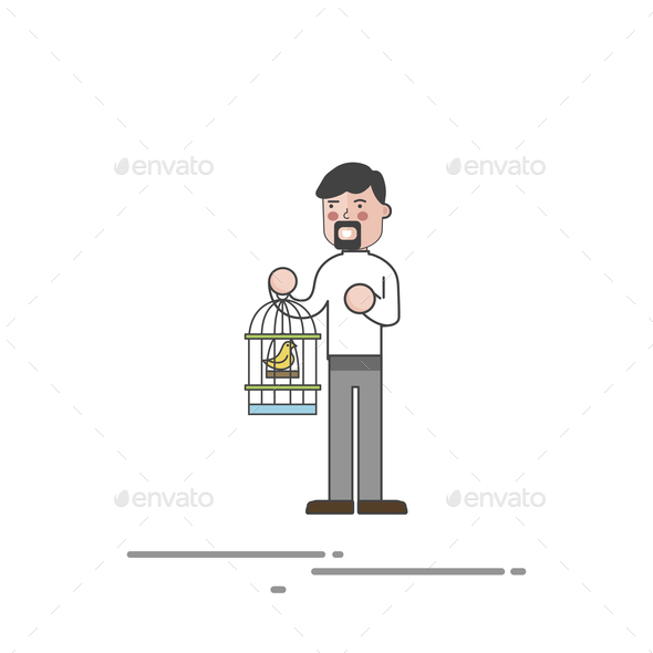 Illustration set of pet shop - Stock Photo - Images