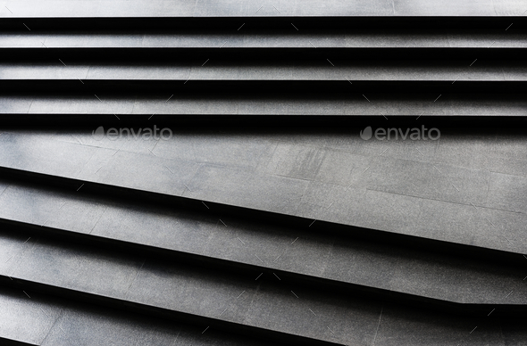 Plain dark granite stairs pattern - Stock Photo - Images