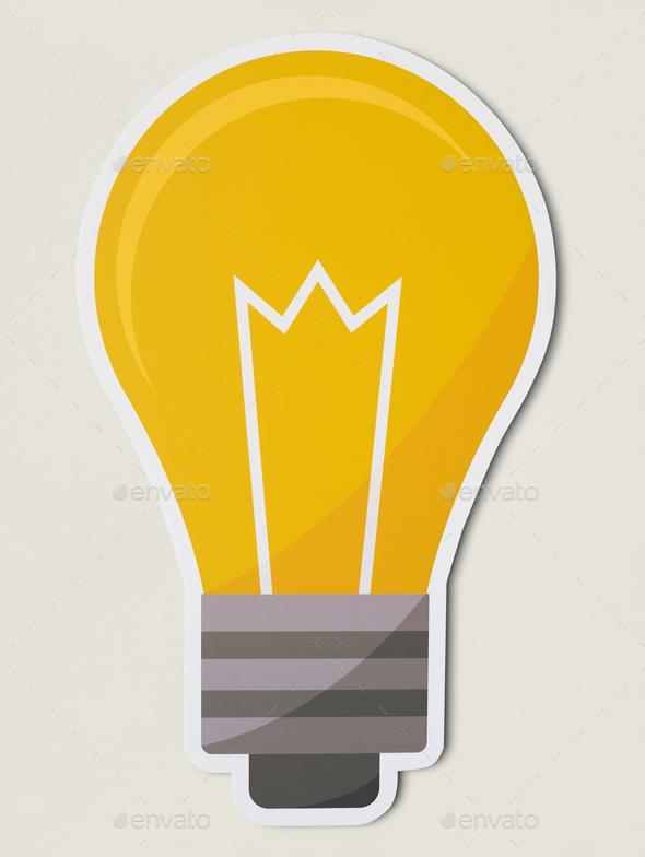 Creative light bulb icon isolated - Stock Photo - Images