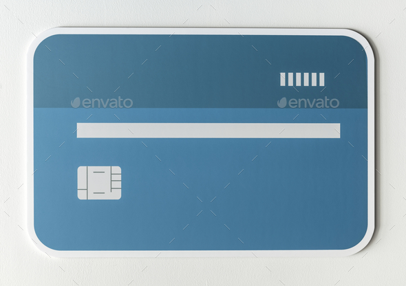Credit or debit card banking icon - Stock Photo - Images